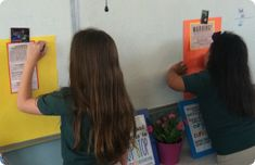 A gallery walk idea...could be used for projects, or intro to new unit, etc.  Title194429313