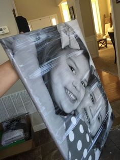 Flip a canvas upside down. This photo technique saved her $80