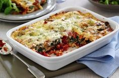 Spinach, tomato and red pepper cannelloni