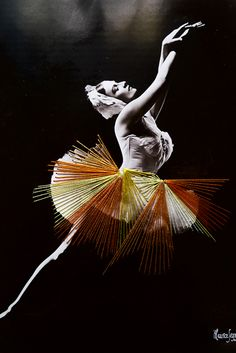 Artist to Know: Jose Ramussi. Chilean artist. Black and white vintage photography of dancers and then embroidered. via Liz Lidgett