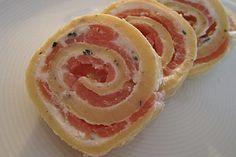 Pfannkuchen vom Blech mit Räucherlachs 1