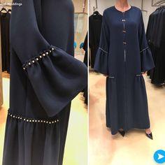 Abaya Designs Latest, African Fashion Dresses, Fashion Outfits, Hijab Abaya, Abaya Pattern, Black Abaya, Denim Maxi Dress, Mode Abaya, Hijab Fashion Inspiration