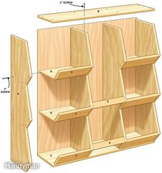 DIY Toy Storage Bins - DIY STORAGE for Toys…looks like Jerry is going to be giving his power tools a workout - Toy Storage Bins, Tool Storage, Garage Storage, Toy Bins, Storage Ideas, Diy Storage For Toys, Small Parts Storage, Toy Storage Solutions, Produce Storage