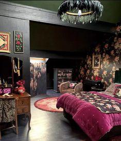 Home Bedroom, Bedroom Decor, Design Bedroom, Interior Styling, Interior Design, Interior Office, Modern Interior, Dark Interiors, Bedroom Interiors