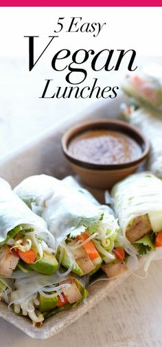 Five Easy Vegan Lunches