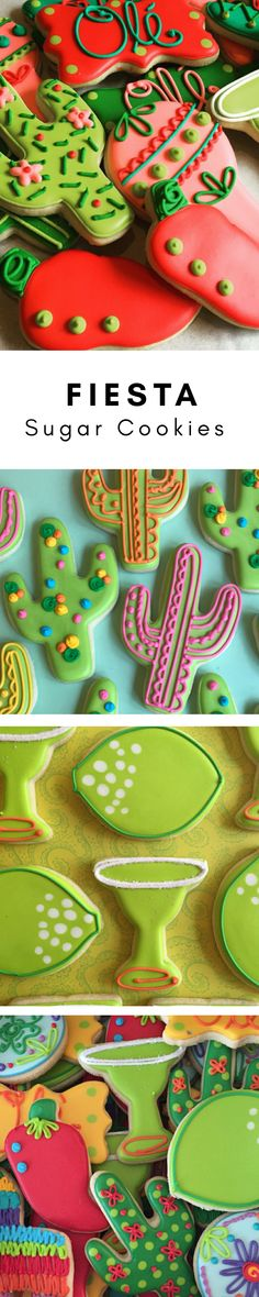 Fiesta Decorated Sugar Cookies-1 dozen cinco de mayo #affiliate