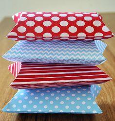Christmas Printable Pillow Boxes |  with links to lots of fun printables