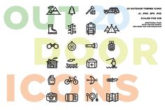 Outdoor Icon Set by Vincent Avila on @creativemarket