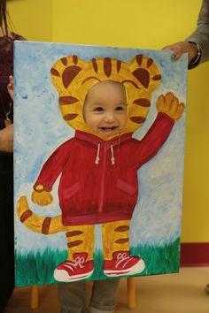 Diy painted Daniel Tiger cut out Daniel Tiger Birthday Cake, Daniel Tiger Cake, Daniel Tiger Party, Daniel Tiger's Neighborhood, Baby Boy Birthday, Third Birthday, 4th Birthday Parties, Birthday Ideas, Alice