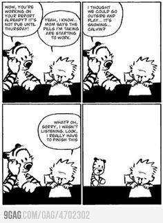 The last ever Calvin & Hobbes Comic