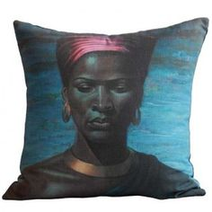 feather stuffed cushion by Haas Collective