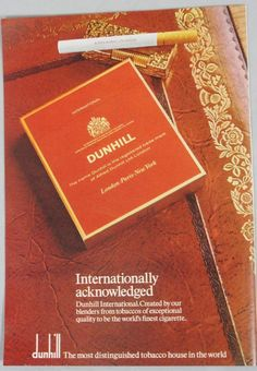 1973 Advertisement Dunhill Cigarettes & Gold Lighter Magazine Ad #PeterStuyvestant