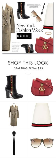 """""""NYFW: Gucci"""" by snobswap on Polyvore featuring Gucci, MAC Cosmetics and Hermès"""