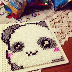 Kawaii panda hama beads by marziafata