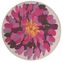 Hand-tufted White Bostor New Zealand Wool Rug (8' Round) $660.99