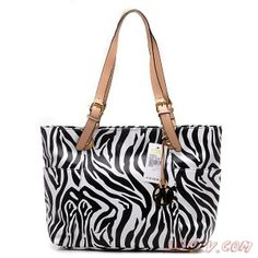 2014 New MK460 Michael Kors Jet Set Stripe Large Noir Tote