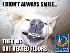 Add comfort for everyone in your home with radiant heated floors, ThermoFin hydronic systems from Radiant Engineering. #thermofin #radiant #heated #floors