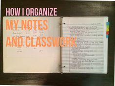 Lauren Ashleigh: How I Organize My Notes and Classwork. Actually very helpful! I do some of these things already in my dual credit classes, sure, but this is the big time haha College Hacks, College Life, College Binder, College Ready, College Checklist, College Success, College Planner, College Dorms, Education College