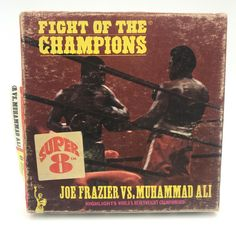 Vintage Super 8 Tape Fight of the Champions Joe Frazier vs Muhammad Ali Movie George Foreman Boxing, Super 8 Film, Joe Louis, Harlem Globetrotters, 8mm Film, Film Reels, Classic Monsters, Columbia Pictures, Disney Home
