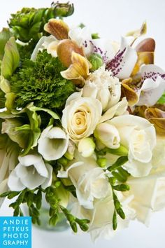 white and green  bridal bouquet, Françoise Weeks