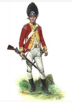 British 10th Regiment of Foot Pvt., Grenadier Company 1775, by Don Troiani. (www.dontroiani.com)