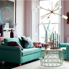 Let your sofa do the decorating