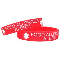 food allergies silicone bracelet