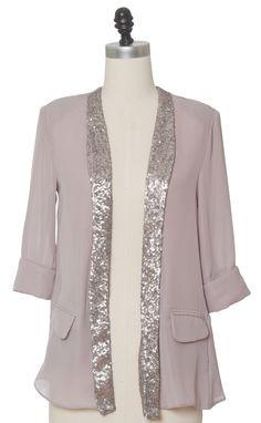SO CUTE! Juniors Clothing - Chloe Loves Charlie - Split Silver Jacket - chloelovescharlie.com