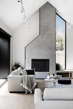 Eastwell House by Techne Architecture and Interior Design Eastwell House von Techne Architektur und Innenarchitektur Living Room Modern, Living Room Designs, Living Spaces, Living Rooms, Living Area, Contemporary Interior Design, Modern House Design, Monochrome Interior, Contemporary Furniture