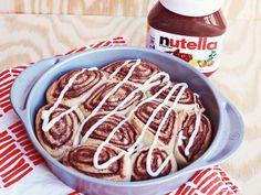 nutella food, nutella cinnamon rolls, drink, delici, recip, food love, breakfast food nutella, healthy desserts, treat