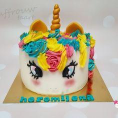 Kindertaarten meisjes - Juffrouw taart winsum groningen  #unicorn #eenhoorn Box Template Printable, Birthday Cake, Baking, Desserts, Food, Bread Making, Birthday Cakes, Meal, Patisserie