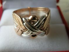 8 Band Silver and Bronze Turkish Puzzle Ring - Sizes 7-14 #Dimenticare #Band