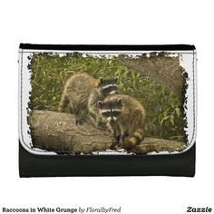 Raccoons in White Grunge by Florals by Fred #zazzle #gift #photogift