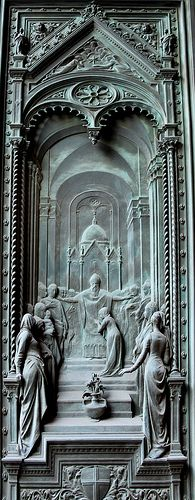 Bronze Door Panel - Duomo.  from the front doors of Santa Maria del Flore cathedral in Florence