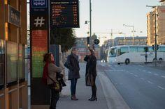 Bjørvika, waiting for the bus