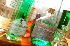 Bottle Labels at a Harry Potter Party #harrypotter #party