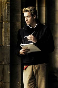 Quiet time Prince William pauses in St Salvator's Quad at St Andrews University where he is a student in 2005.