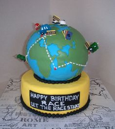 the amazing race cake 13th Birthday Parties, 11th Birthday, Grad Parties, Birthday Cakes, Birthday Ideas, Amazing Race Party, 3d Cakes, Specialty Cakes, Holiday Cakes
