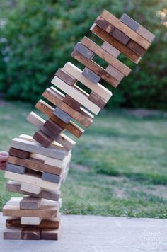 DIY Yard Games- I love this! I've seen Jenga but it's so much fun to have options.