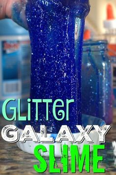Looking for the perfect gooey craft project to keep your kids entertained? This galaxy glitter slime is sure to be a hit and is super easy to make!,