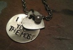 hand stamped custom personalzied necklace