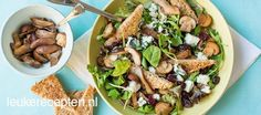 Herfstsalade met paddenstoelen Simple Christmas, Kung Pao Chicken, Lunches, Macaroni, Foodies, Breakfast Recipes, Side Dishes, Salads, Brunch