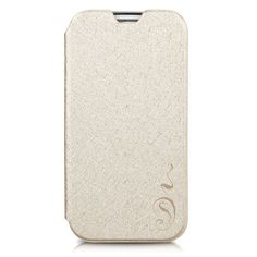 Fashion Unique Flip-Open Leather Cover Case for Samsung Galaxy S4 - Champagne, Beautiful & Sumptuous