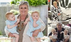 The grandmother who gave up running a £48m company to care for twins