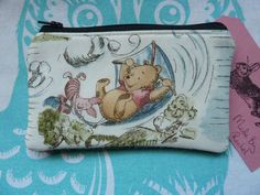 Handmade Coin Purse Makeup Bag Winnie The Pooh Bear Piglet Harris Tweed Pouch in Clothes, Shoes & Accessories, Women's Accessories, Purses & Wallets | eBay