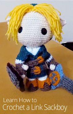 How to Crochet a Link Sackboy ༺✿ƬⱤღ  http://www.pinterest.com/teretegui/✿༻