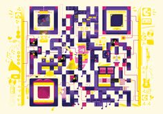QR codes ilustrados by 'Am I Collective'