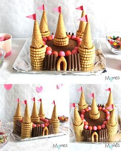 A princess castle cake! - Gesundes Essen-Un gâteau château de princesse ! – Gesundes Essen A princess castle cake! Kale Pasta, Food Humor, Funny Food, Food Cakes, Mini Cupcakes, Kids Meals, Cake Recipes, Cake Decorating, Good Food