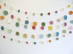 Crocheted garland - so pretty