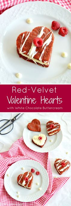 Make Valentine's Day even sweeter with these adorable and delicious heart cakes filled with a generous layer of white chocolate buttercream. #Valentinesday #Valentinesdaydessert #Redvelvetcake #Feb14 #whitechocolate #whitechocolatecake White Chocolate Buttercream, White Chocolate Cake, Chocolate Lava Cake, Chocolate Pots, Valentine Cake, Valentines Food, Valentine Treats, Baking Recipes, Dessert Recipes
